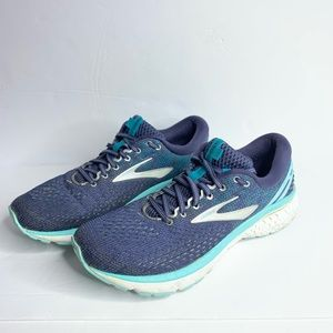 Brooks Ghost 11 Blue Teal & White Women's Size 11
